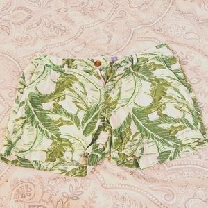 Green and White Palm Tree Old Navy Shorts